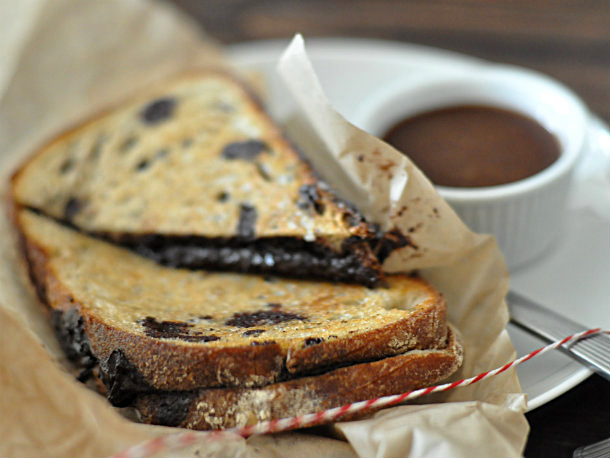 Grilled Chocolate Sandwiches Recipe — Dishmaps